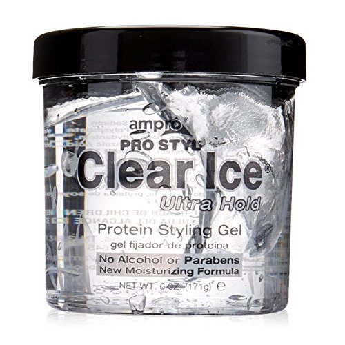 (PACK OF 5) AMPRO Clear Ice Ultra Hold Protein Styling Gel (Ultra Hold Gel)