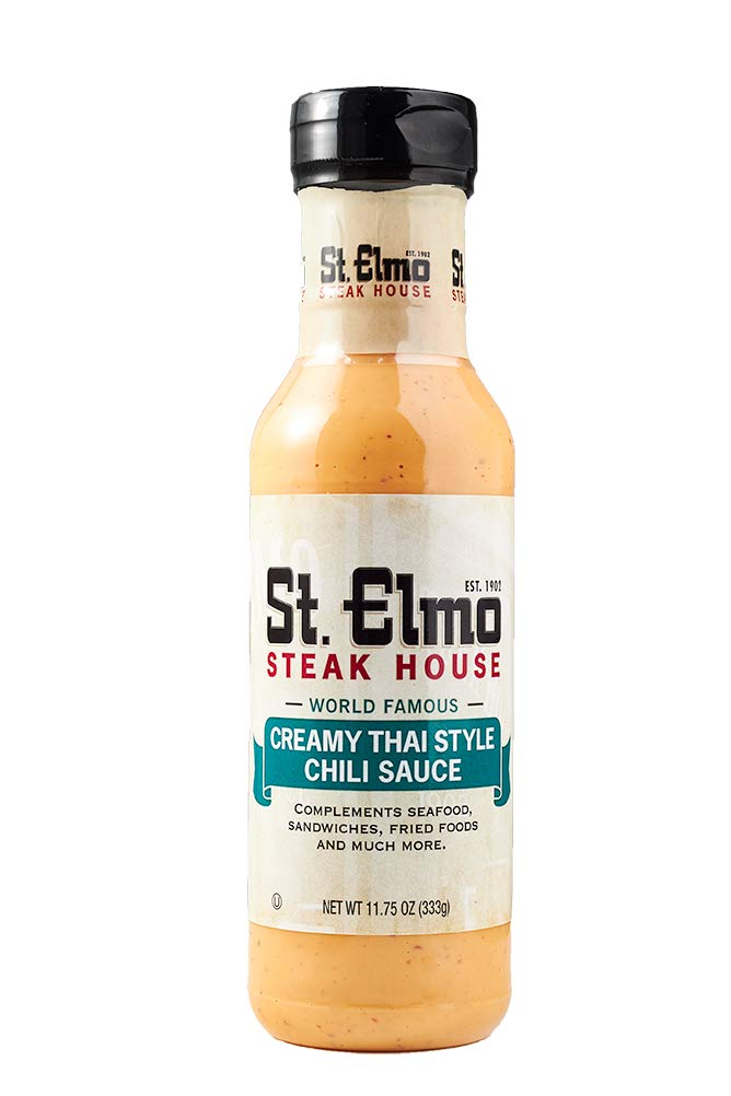 St. Elmo Creamy Thai Chili, Great Sauce for Seafood, Sandwiches, and More