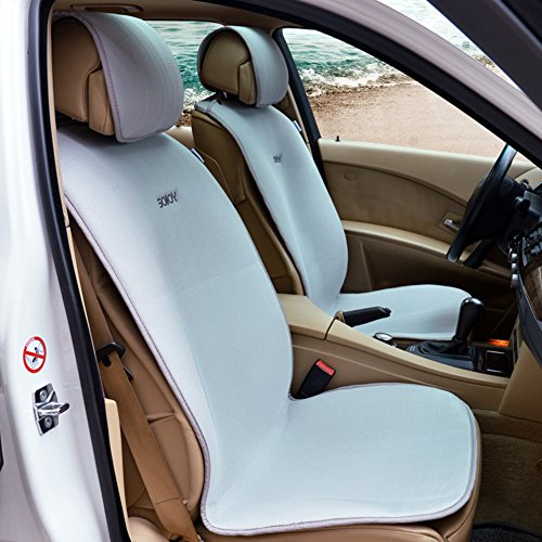 sojoy cooling universal four season fashionable car seat cover for 2 front seats with 4 pieces. Black Bedroom Furniture Sets. Home Design Ideas