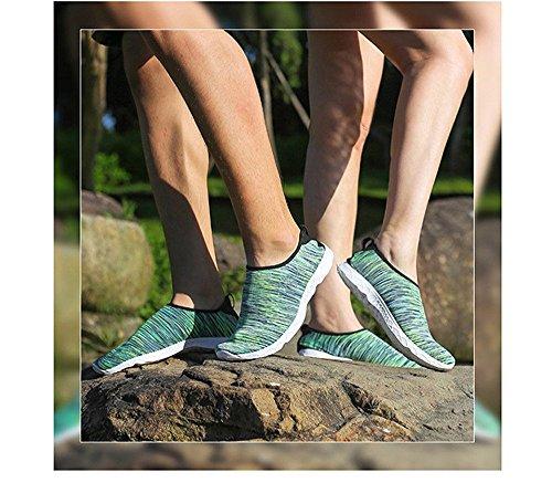 Agua Playa Verde Huateng Piscina de de Exercise Durable Shoes Sand Adultos Water Para Para Sole On Surf Yoga Zapatos Slip Aqua Shoes Swim Lightweight Yoga qqTgESa4