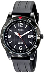 "Timex Men's T2N694 ""Elevated Classics"" Watch with Black Resin Strap"