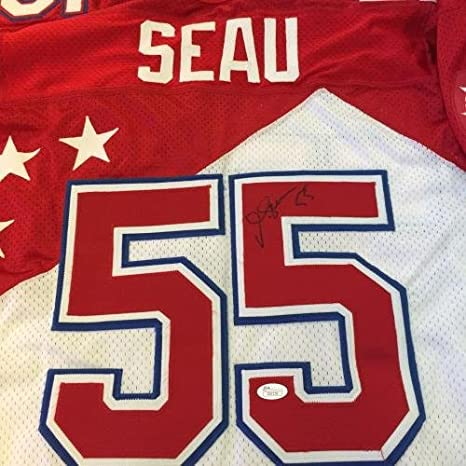 d961e52be Autographed Junior Seau Jersey - Rare Game Model 1997 Pro Bowl Wilson COA - JSA  Certified - Autographed NFL Jerseys at Amazon's Sports Collectibles Store