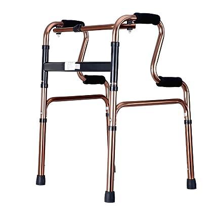Accesorios para andadores con ruedas Caminante Silla De Baño Caminador Plegable Ayuda De Caminar Ajustable Ruedas