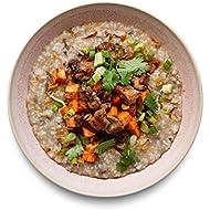 Amazon Meal Kits, Mushroom Congee with Lemongrass Chicken & Sweet Potatoes, Serves 2