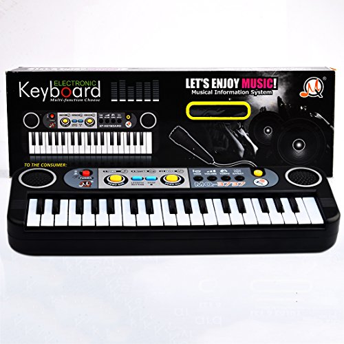 Electronic Piano for Kids, Petforu 37-Key Pianos Keyboards Musical Instruments Educational Toys