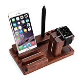 TuoP@ [Charging Dock] Wooden Station Desktop Charger Stand
