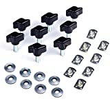 jeep bolts for hard tops - KAWELL Jeep Wrangler Hard Top Thumb Screw Set of 8 Quick Removal with Nuts Kit Fit for 1995 to 2016 Jeep Wrangler YJ TJ JK JKU Sports Sahara Freedom Rubicon X Unlimited X