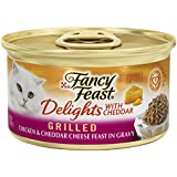 Purina Fancy Feast Delights With Cheddar Grilled Chicken & Cheddar Cheese Feast in Gravy Wet Cat Food - (24) 3 oz. Cans