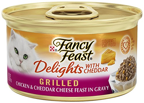 Fancy Feast Wet Cat Food, Delights with Cheddar, Grilled Chi