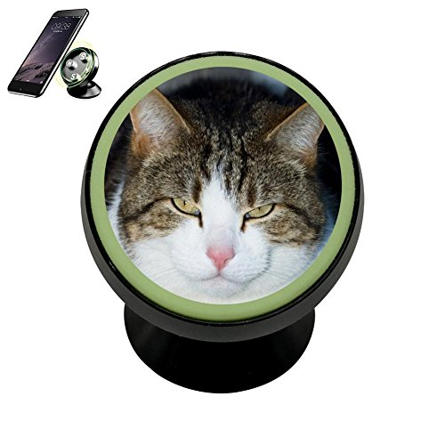 LIHHOLI Cute Cat Pussy Vehicle Phone Mount Magnetic Mobile Phone Car Cradle Stand Dashboard Multi-Function Mounts Holder 360 Universal Noctilucent Kit