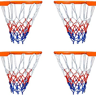 470b05ec929a5 Tuodeal 4 Pack Basketball Net All-Weather Thick Heavy Duty for Standard  Outdoor or Indoor Basketball Hoop
