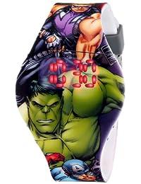 Marvel Los Vengadores Kids 'avg1518visualización Digital analógico gris reloj de cuarzo