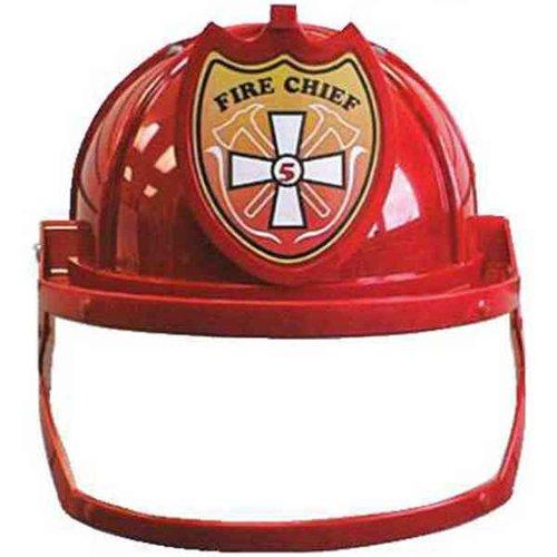 Red Plastic Firefigher Fireman Helmet Costume