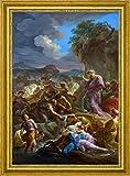 "Moses Striking the Rock -Bozzetto by Corrado Giaquinto - 20"" x 27"" Framed Premium Canvas Print"