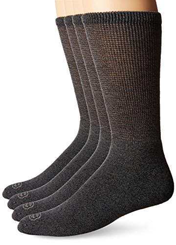 Doctor's Choice Comfortable Non-Binding Crew Socks| 4-Pack| Seamless Toe| Full Cushion| Quick Dry Moisture Management| Anti-bacterial| Best for Elderly, Diabetic, Pre-Diabetic, Sedentary, - Diabetic Socks Children