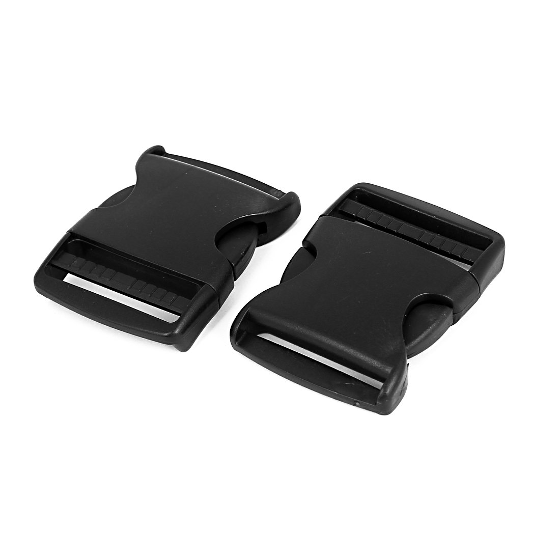 uxcell Plastic 2 inches Wide Webbing Strap Side Release Buckle 5Pcs Black