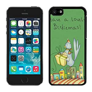 diy phone caseCustom-ized Phone Case Iphone 5C TPU Case Christmas Bird Black iPhone 5C Case diy phone case1