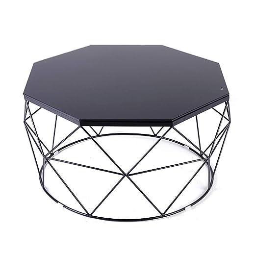 Mesa de Centro Negra Mesa de Vidrio Templado de 6 mm Mesa de sofá ...