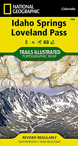 Idaho Springs, Loveland Pass (National Geographic Trails Illustrated - Loveland Outlets Of