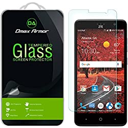 [3-Pack] Dmax Armor- ZTE Grand X4 / Grand X 4 [Tempered Glass] Screen Protector with Lifetime Replacement Warranty