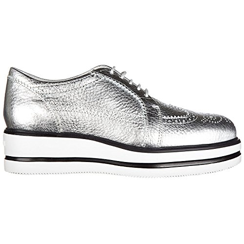 Femmes Argent Two Sides Oxford Lace