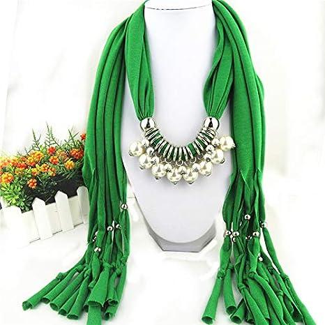 Bufandas de las Mujeres Flecos Collar de Perlas Colgante Chal Colgante joyería, Partido más Hermoso en la Calle, el Regalo más Elegante,5
