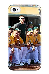 For Iphone 4/4s Tpu Phone Case Cover(oakland Athletics )