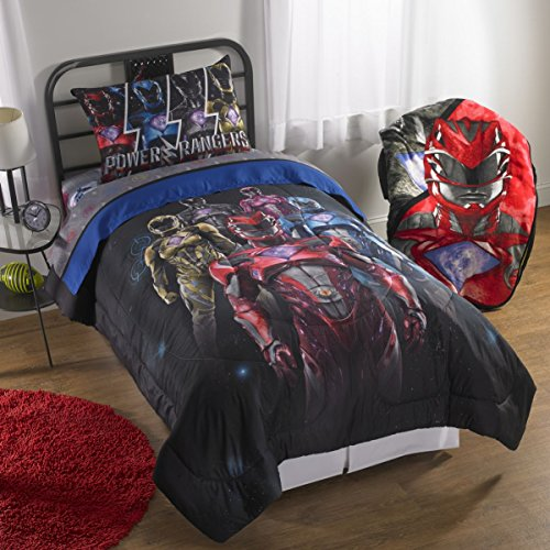 Power Rangers 'Band Together' Reversible Comforter with Sham 2 Pieces Set, Twin/Full