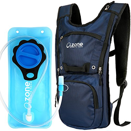 Hydration Pack with 2L BPA free water bladder. Sleek and compact with good storage volume. O.ZONE EDGE Hydration Pack. Great for Hiking, Running, Biking, Adults, Men, Women, - For Cheap Fox Sunglasses