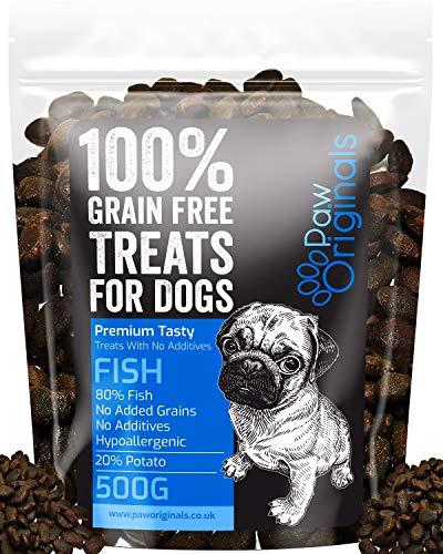 Fish Grain Free Dog Training Treats – 1000 Tasty Treat Pack – Packed With Omega 3,6,9 & D3 – 80% Fish, 20% Potato…