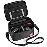 Myriann Nintendo Switch Case Carrying Bag ,Myriann Portable Protective Storage Travel EVA Deluxe System Game Case for Nintendo Switch, New3DS, New3DSLL, 3DS, 3DSLL (Black)