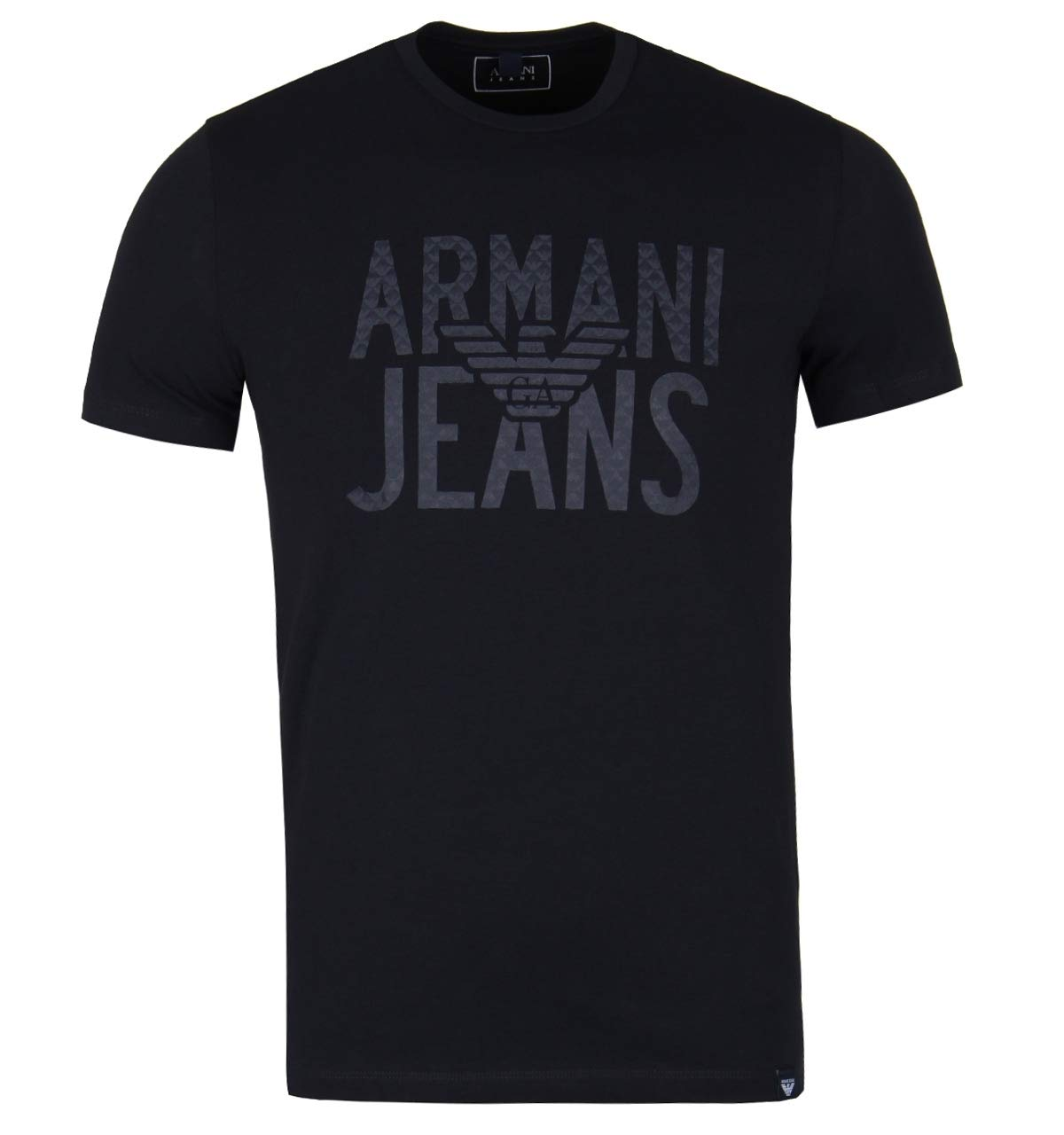 Armani Jeans Navy Eagle Print Logo Short Sleeve T-Shirt-MEDIUM 6Y6T10 6J0AZ