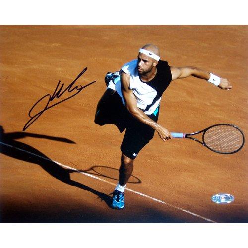 Steiner Sports Fotografía de James Blake Red Clay con autógrafo de 20,32 x 25,4 cm
