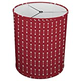 Hardback Linen Drum Cylinder Lamp Shade 8'' x 8'' x 8'' Spider Construction [ Pink Arrow Love ]