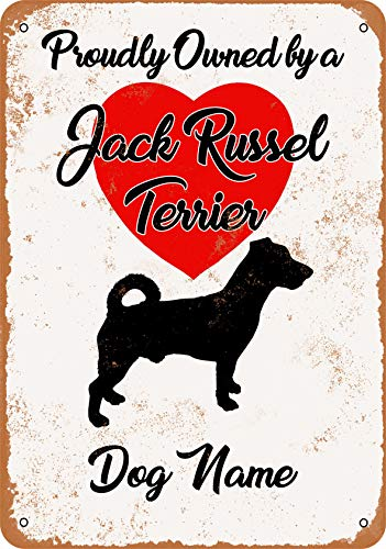 tal Sign - Custom Dog Name - Jack Russel Terrier - Vintage Look ()