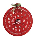 Christmas Advent Calendar & Glass Magnet Creative Co-op