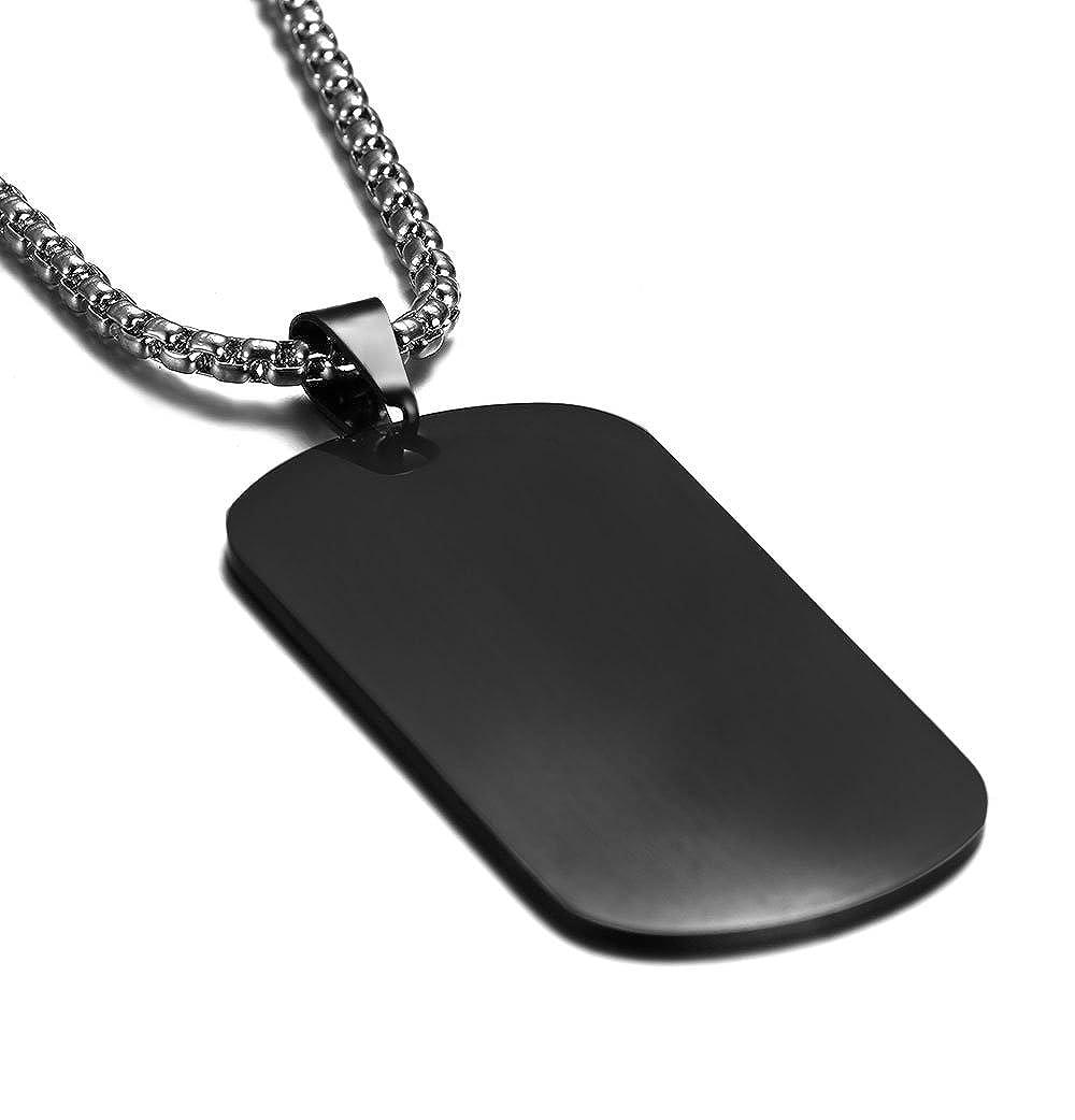 Amazon.com: JF.MED - Colgante de acero inoxidable chapado en ...