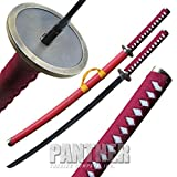 Red Jacket Katana Samurai Sword with Scabbard