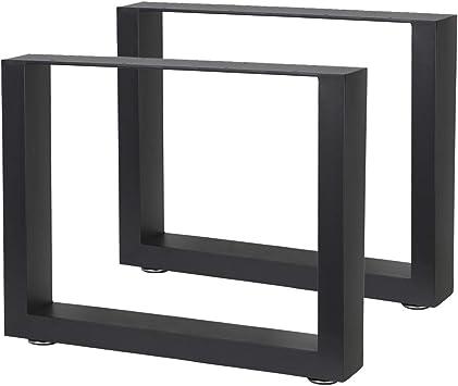 2x Patas de la Mesa Acero V2Aox 64 x 40 cm: Amazon.es: Bricolaje y ...