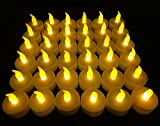 Tools & Hardware : Flameless LED Tea Light Candles, Vivii Battery-powered Unscented LED Tealight Candles, Fake Candles, Tealights (36 Pack)