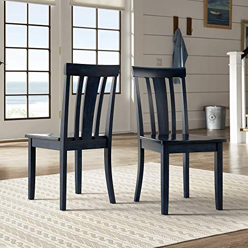 Inspire Q Wilmington II Slat Back Wood Dining Side Chairs by Classic (Set of 2) Black Antique