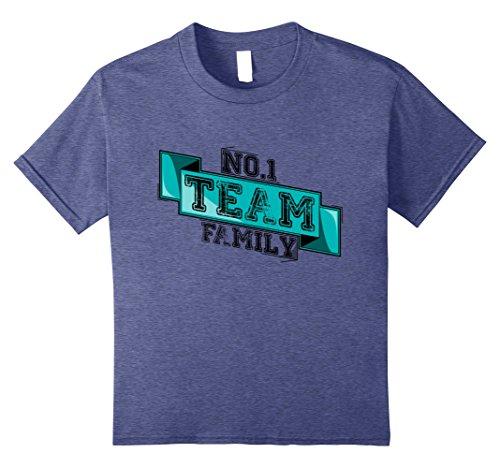 James Team Color (Kids Team Family James Boys Youth T-Shirt 12 Heather Blue)