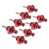 Kmise A2282 8 Piece Round Head Strap Locks Red for Guitar Schaller Style