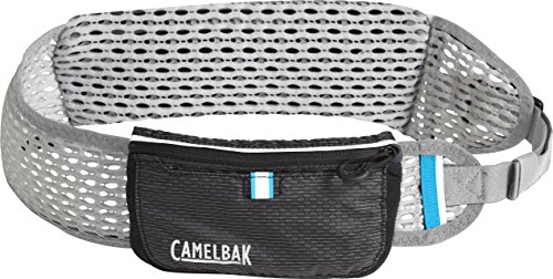 (CamelBak Ultra Belt Quick Stow Flask Hydration Waist Pack, Black/Silver, X-Small/Small)
