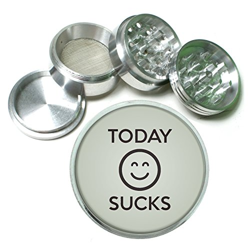 Today Sucks Funny 4 Pc. Aluminum Tobacco Spice Herb Grinder