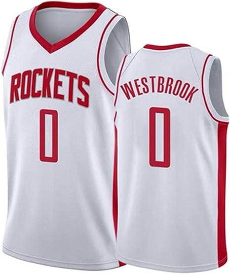 Hombre Ropa de Baloncesto Rockets 13# Harden 0# Westbrook Jersey Camiseta de Baloncesto: Amazon.es: Deportes y aire libre