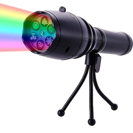 SZRWD linterna proyector LED, proyector de linterna portátil ...