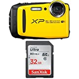 #5: Fujifilm FinePix XP120 Waterproof Digital Camera Yellow & SanDisk 32GB Ultra Class
