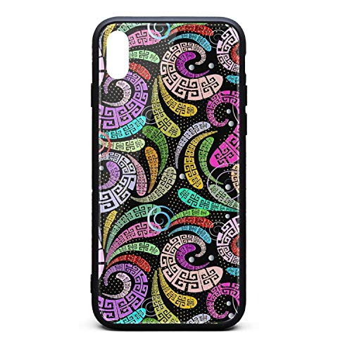 - Greek Floral Paisley Phone Case for iPhone X/XSTPU Gel Full Protective Stylish Anti-Scratch Fashionable Glossy Anti Slip Thin Shockproof Soft Case