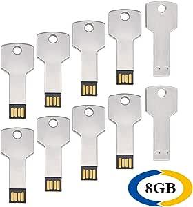 8 GB Pendrive 10 Pack Llave Shape Memoria USB 2.0 Metal Flash ...